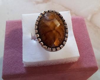 Brown Adjustable ring (3)