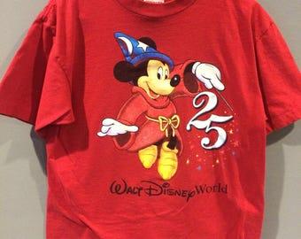 Vintage Mickey Mouse Walt Disney World 25th Anniversary shirt