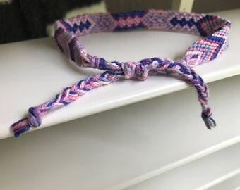 Adjustable Hand Made Aztec Inspired Friendship Bracelet/Anklet