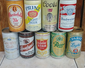 Vintage Beer cans for any man cave