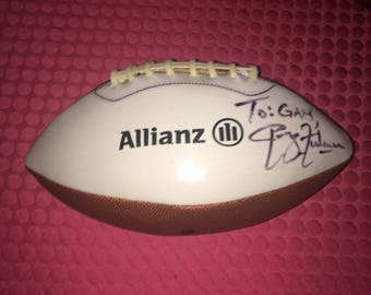 Football - Phillip Fulmer Autographed Football Tennessee Football HOF Coach. See Description and Photos.