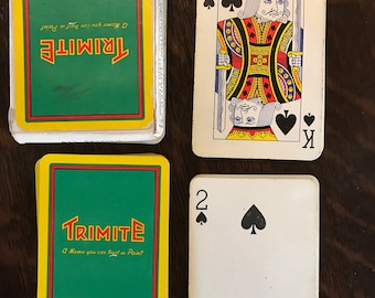 Used trimite playing cards deck