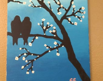 Monogamy _ Acrylic Canvas Painting Birds