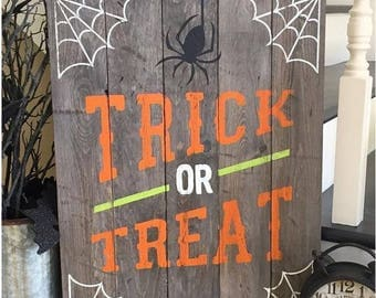 Trick or Treat halloween home decor
