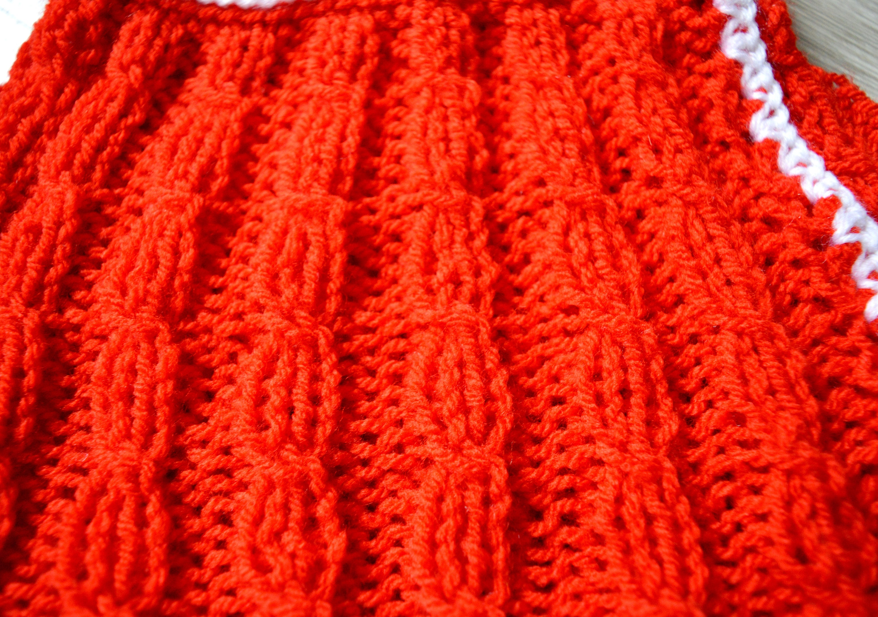 Hand Knitted Baby Girl 0 3 months Dress Christmas Baby Girl Toddler