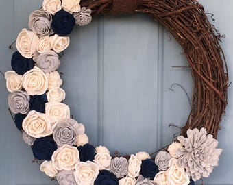 "18"" Sola Wood Hand Dyed Wreath"
