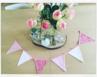 Pink Bunting in cotton fabrics