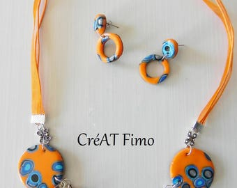 Sparkling set in polymer clay