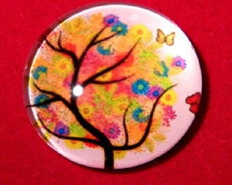 30mm, tree of life flowers and Butterfly