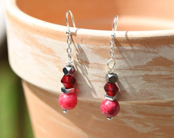 Red beaded drops