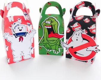 6x Ghostbusters Candy Lolly Loot Party Lunch Box Bag. Party Supplies Banner Bunting Flag Deco Favour