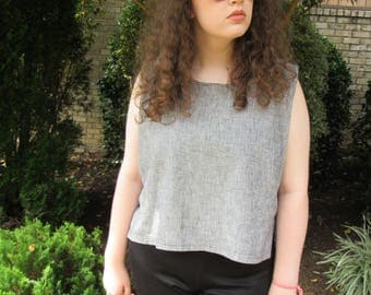 Linen Crop Top (Large)