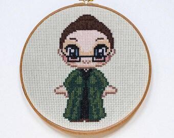 Minerva McGonagall Cross Stitch - Finished Product