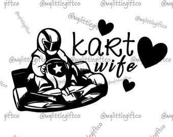 Kart Wife Vinyl Decal