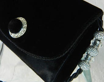 Black Velvet Evening Bag