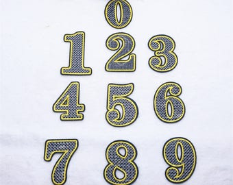 letter or Number Patch Iron on Sew on patch appliqueNO.9