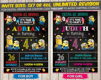 Minion Invitation, Minion Birthday, Minion Birthday Invitation, Minion Party, Minion Invite, Minion Printable
