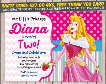 Disney Princess Invitation, Disney Princess Birthday, Disney Princess Birthday Invitation, Disney Princess Party, Disney Princess Invite