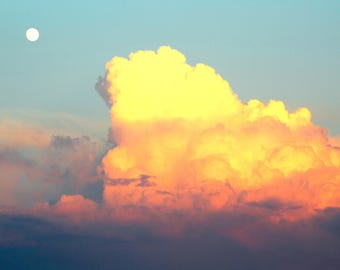 Sunset Clouds Matte Canvas Print