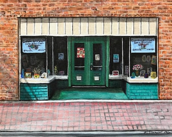 The Art Studio, Buildings, Whimsical, Colorful, Downtown, Puzzle Art