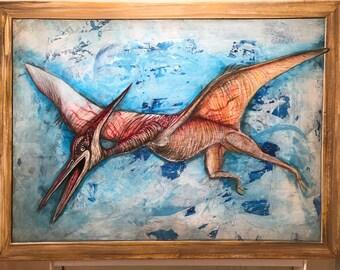 Pop Art 30 x 40 Original Pterodactyl