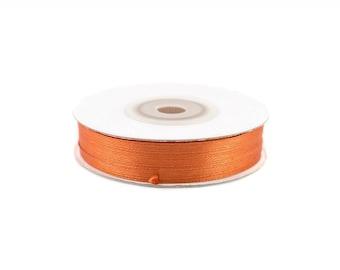 3 mm-spool of 50 meters of satin ribbon copper ref 785