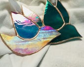 Set Of Glass Dove Ornaments (made to order for Kristin Rider)