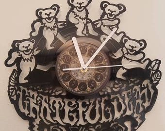 GRATEFULDEAD vinyl record clock