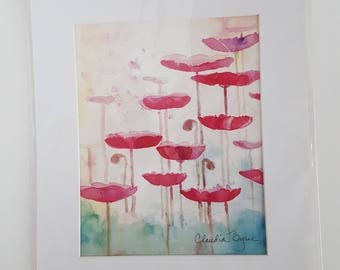 Poppies - Watercolor Print