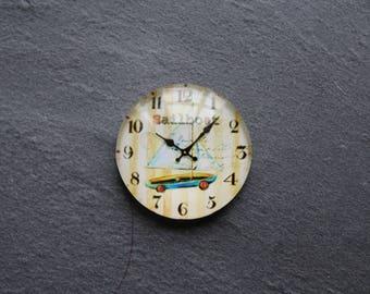 "Cabochon 25 mm (boat) glass ""Clock"""