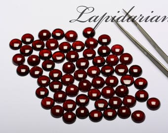 Red garnet Cabochons 10mm rounds 1st quality