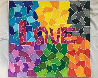 "Colorful, abstract art - ""LOVE"""