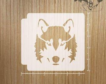 Wolf Face 783-091 Stencil