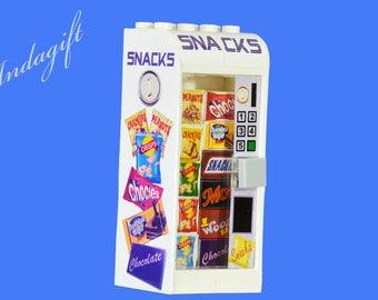 lego new snack vending machine crisps chocolate food train station fridge shop