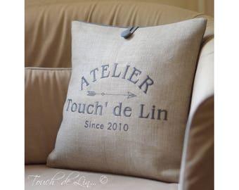 CUSTOM natural linen pillow cover