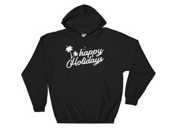 Happy Holidays Christmas Hooded Sweatshirt
