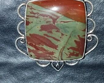 Petrified wood pendant