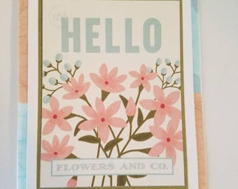 Hello Greeting card -- Just Because card