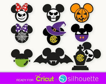 MICKEY HALLOWEEN SVG Minnie Halloween svg Disney svg files Halloween mickey svg