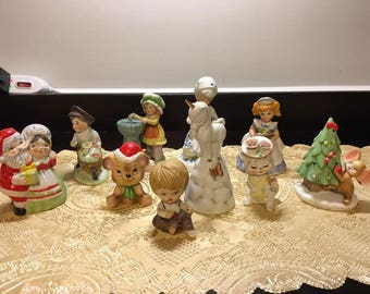 Vintage Lot 10 Collectable Ceramic Collectable Figurines / Knick Knacks