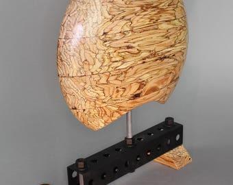 Gorgeous Lathe-Turned GluLam Beam