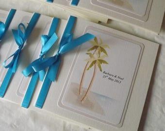 1 x Pocketfold sample Wedding Invitations on the beach theme