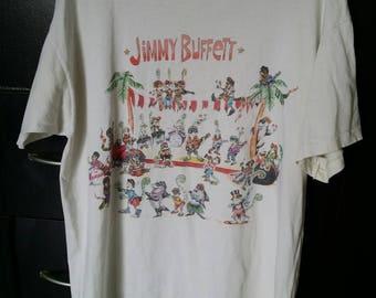 Rare Vintage Jimmy Buffett chameleon caravantour 1993 t shirt
