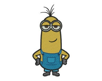 Minion Kevin Embroidery Design - 4 SIZES