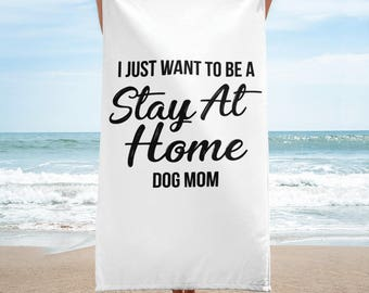 I Just Want to Be a Stay at Home Dog Mom Gift Mug Mommy Animal lover Aunt Rescue Adopt Shelter Doggy Dog Mama Lady Women Ladies Pawprint Bea
