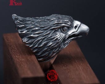 Sterling Silver 925 Eagle Ring,  Songyan Jewelry