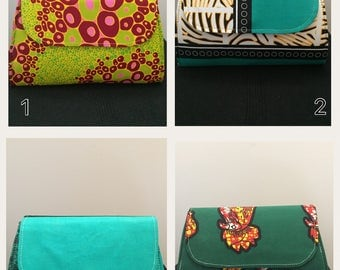 Clutch in African print (wax)