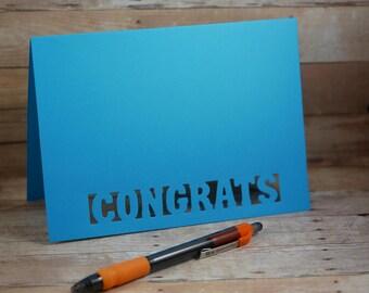 Set of 5 Congrats Laser Card,  Laser Cut Card, Congrats card, Wedding card, laser cards