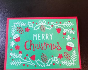 Merry Christmas, Greeting Card, Card, Christmas, Miss You, love, holiday, family, friends, red, green