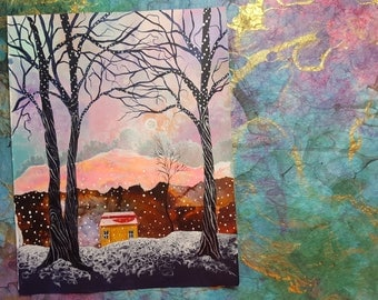 ORIGINAL PAINTING - The House Between the Trees
